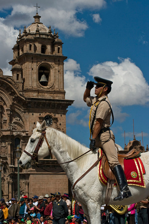 Cusco Parade Salute